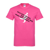 Hot Pink T Shirt-Walk With Courage
