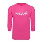 Hot Pink Long Sleeve T Shirt-Susan G. Komen
