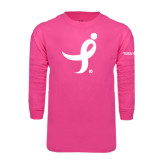 Hot Pink Long Sleeve T Shirt-Ribbon