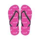 Ladies Full Color Flip Flops-Susan G. Komen