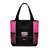 Black/Tropical Pink Panel Tote-More Than Pink