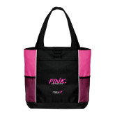 Black/Tropical Pink Panel Tote-Pink More Than A Color