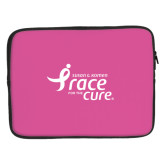 15 inch Neoprene Laptop Sleeve-Susan G. Komen Race for the Cure