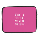 15 inch Neoprene Laptop Sleeve-The Fight Never Stops Distressed