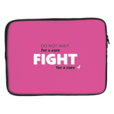 15 inch Neoprene Laptop Sleeve-Fight For A Cure