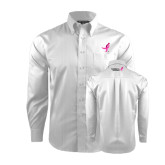 Red House White Dobby Non Iron Long Sleeve Shirt-Ribbon