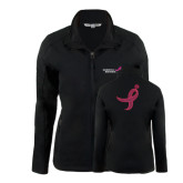 Ladies Black Softshell Jacket-Susan G. Komen