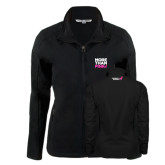 Ladies Black Softshell Jacket-More Than Pink