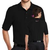 Black Easycare Pique Polo-Ribbon