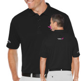 Callaway Opti Dri Black Chev Polo-Ribbon