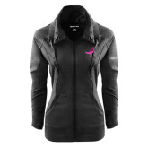 Ladies Sport Wick Stretch Full Zip Black Jacket-Ribbon