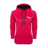 Ladies Pink Raspberry Tech Fleece Hoodie-Susan G. Komen Race for the Cure
