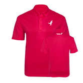 Pink Raspberry Silk Touch Performance Polo-Ribbon