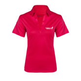 Ladies Pink Raspberry Silk Touch Performance Polo-Susan G. Komen