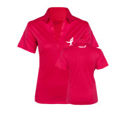 Ladies Pink Raspberry Silk Touch Performance Polo-Ribbon