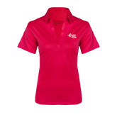 Ladies Pink Raspberry Silk Touch Performance Polo-Susan G. Komen Race for the Cure