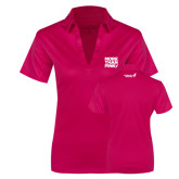 Ladies Pink Raspberry Silk Touch Performance Polo-More Than Pink