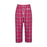 Ladies Dark Fuchsia/White Flannel Pajama Pant-Susan G. Komen