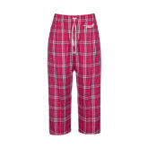 Ladies Dark Fuchsia/White Flannel Pajama Pant-Susan G. Komen 3-Day
