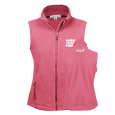 Ladies Fleece Full Zip Raspberry Vest-More Than Pink