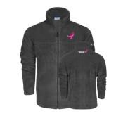 Columbia Full Zip Charcoal Fleece Jacket-Ribbon