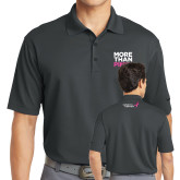 Nike Golf Dri Fit Charcoal Micro Pique Polo-More Than Pink