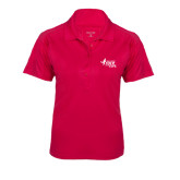 Ladies Pink Raspberry Dry Mesh Pro Polo-Susan G. Komen Race for the Cure