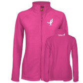 Ladies Fleece Full Zip Raspberry Jacket-Ribbon