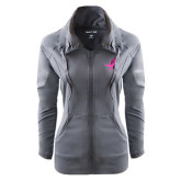 Ladies Sport Wick Stretch Full Zip Charcoal Jacket-Ribbon