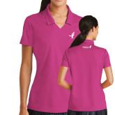Ladies Nike Golf Dri Fit Fuchsia Micro Pique Polo-Ribbon