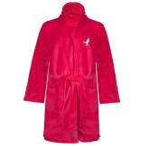 Ladies Pink Raspberry Plush Microfleece Shawl Collar Robe-Ribbon