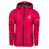 Ladies Dark Fuchsia Waterproof Jacket-Ribbon