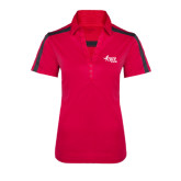 Ladies Raspberry/Charcoal Performance Color Block Polo-Susan G. Komen Race for the Cure
