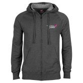 Charcoal Fleece Full Zip Hood-Susan G. Komen 3-Day
