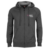Charcoal Fleece Full Zip Hood-Susan G. Komen Race for the Cure