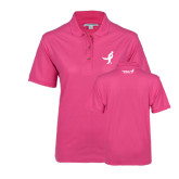 Ladies Easycare Tropical Pink Pique Polo-Ribbon