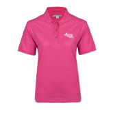 Ladies Easycare Tropical Pink Pique Polo-Susan G. Komen Race for the Cure