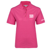 Ladies Easycare Tropical Pink Pique Polo-More Than Pink