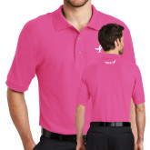 Tropical Pink Easycare Pique Polo-Ribbon