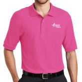 Tropical Pink Easycare Pique Polo-Susan G. Komen Race for the Cure
