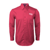 Tropical Pink Twill Button Down Long Sleeve-Susan G. Komen Race for the Cure