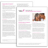 Facts for Life  Life After Breast Cancer Treatment Single Sheet-