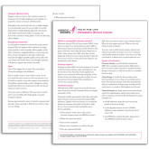 Facts for Life Metastatic Breast Cancer Single Sheet-