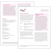Facts for Life  Clinical Trials Single Sheet-