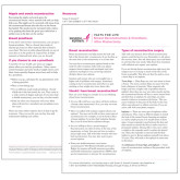 Facts for Life Follow Up After Breast Cancer Treatment Single Sheet-