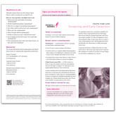 Facts for Life Screening and Early Detection Single Sheet-