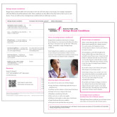 Facts for Life Benign Breast Conditions Single Sheet-