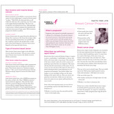 Facts for Life Breast Cancer Prognosis Single Sheet-