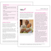 Facts for Life Sexuality and Intimacy Single Sheet-