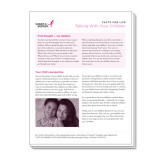 Facts for Life Talking With Your Children Single Sheet-